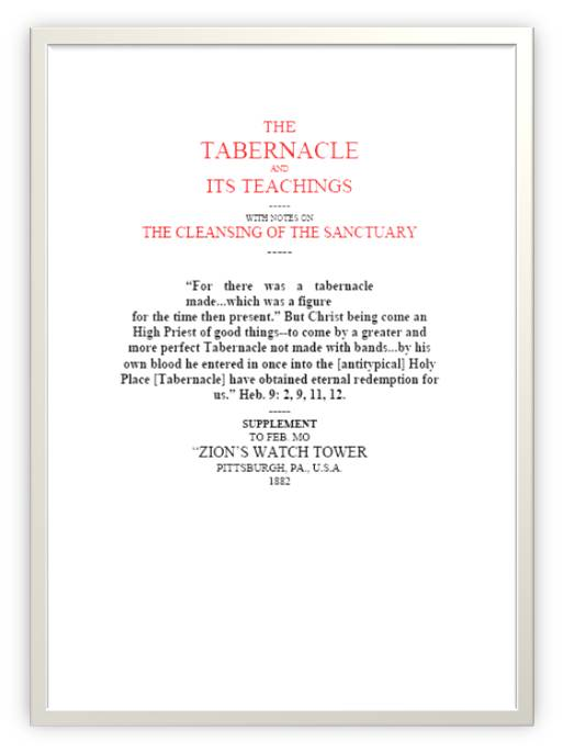 The Tabernacle and It's Teachings
