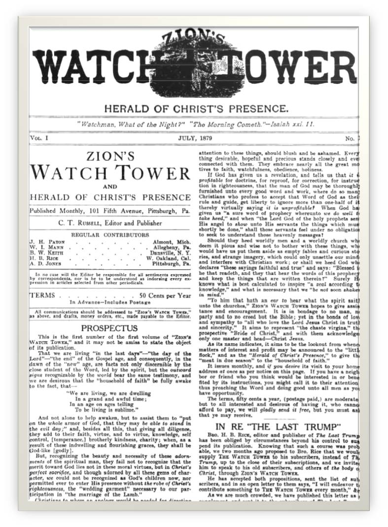 Zion's Watch Tower and Herald of Christ's Presence