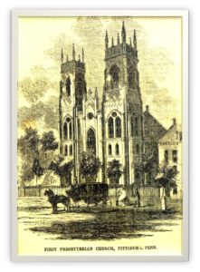 Kościoł prezbiteriański w Pittsburghu, ok. 1857 r.