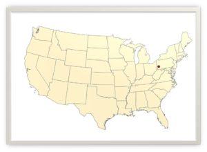 Miasto Allegheny na mapie USA