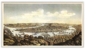 Widok na Pittsburgh, 1849 r.